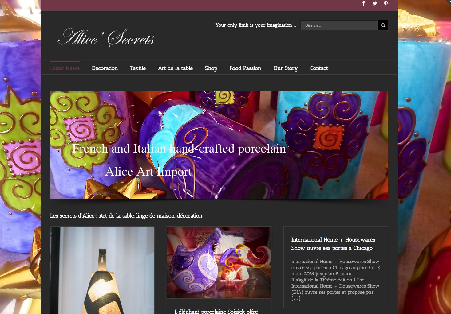 Site SecretsdAlice.com généré par THEORIX